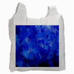 Splashes Of Color, Blue Recycle Bag (one Side) by MoreColorsinLife