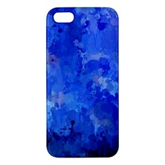 Splashes Of Color, Blue Iphone 5s Premium Hardshell Case by MoreColorsinLife