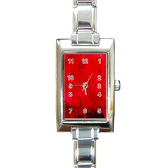 Splashes Of Color, Deep Red Rectangle Italian Charm Watches by MoreColorsinLife