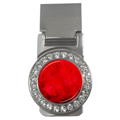 Splashes Of Color, Deep Red Money Clips (cz)  by MoreColorsinLife