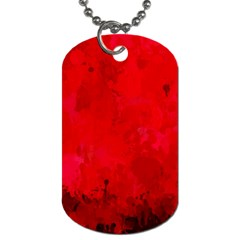 Splashes Of Color, Deep Red Dog Tag (two Sides) by MoreColorsinLife
