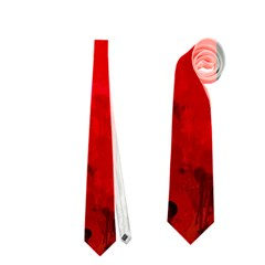 Splashes Of Color, Deep Red Neckties (one Side)  by MoreColorsinLife
