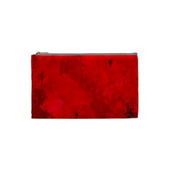 Splashes Of Color, Deep Red Cosmetic Bag (small)  by MoreColorsinLife