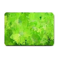 Splashes Of Color, Green Small Doormat  by MoreColorsinLife