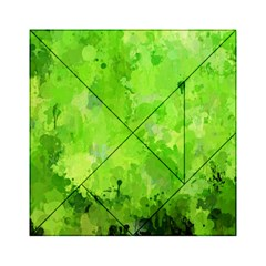 Splashes Of Color, Green Acrylic Tangram Puzzle (6  x 6 ) by MoreColorsinLife