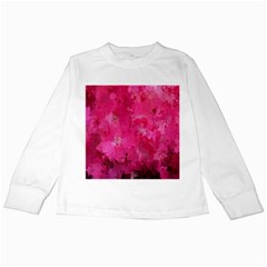 Splashes Of Color, Hot Pink Kids Long Sleeve T Shirts by MoreColorsinLife