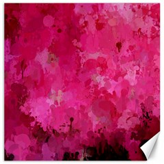 Splashes Of Color, Hot Pink Canvas 16  X 16   by MoreColorsinLife