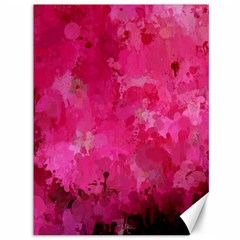 Splashes Of Color, Hot Pink Canvas 36  X 48   by MoreColorsinLife