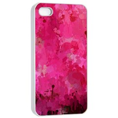 Splashes Of Color, Hot Pink Apple Iphone 4/4s Seamless Case (white) by MoreColorsinLife