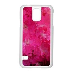 Splashes Of Color, Hot Pink Samsung Galaxy S5 Case (white) by MoreColorsinLife