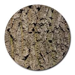 Grey Tree Bark Round Mousepads by trendistuff