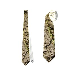 Grey Tree Bark Neckties (two Side)