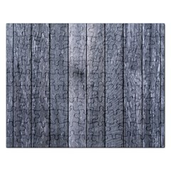 Grey Fence Rectangular Jigsaw Puzzl by trendistuff