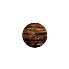 Dark Stained Wood Wall 1  Mini Buttons by trendistuff