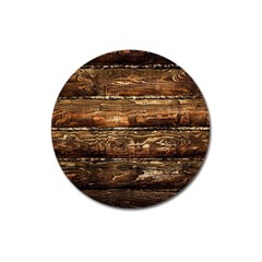 Dark Stained Wood Wall Magnet 3  (round) by trendistuff