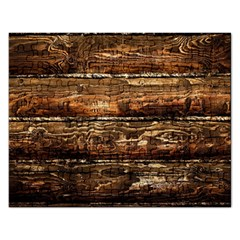 Dark Stained Wood Wall Rectangular Jigsaw Puzzl by trendistuff