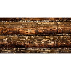 Dark Stained Wood Wall You Are Invited 3d Greeting Card (8x4)
