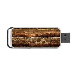 Dark Stained Wood Wall Portable Usb Flash (two Sides)