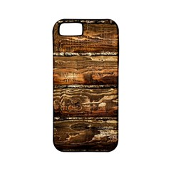 Dark Stained Wood Wall Apple Iphone 5 Classic Hardshell Case (pc+silicone) by trendistuff