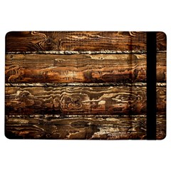 DARK STAINED WOOD WALL iPad Air Flip by trendistuff