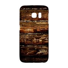 Dark Stained Wood Wall Galaxy S6 Edge by trendistuff