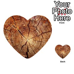 Cross Section Of An Old Tree Multi Purpose Cards (heart)  by trendistuff