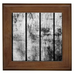 BLACK AND WHITE FENCE Framed Tiles by trendistuff