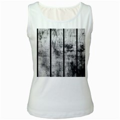 Black And White Fence Women s Tank Tops by trendistuff