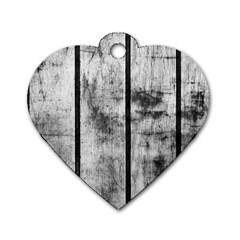 Black And White Fence Dog Tag Heart (one Side) by trendistuff