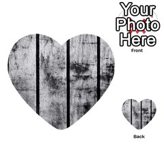 Black And White Fence Multi Purpose Cards (heart)