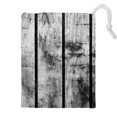 Black And White Fence Drawstring Pouches (xxl) by trendistuff