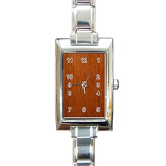 Bamboo Dark Rectangle Italian Charm Watches by trendistuff