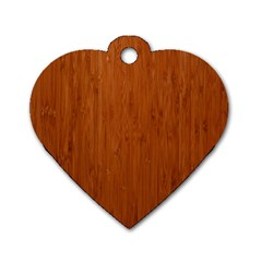 Bamboo Dark Dog Tag Heart (one Side) by trendistuff