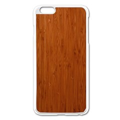 Bamboo Dark Apple Iphone 6 Plus/6s Plus Enamel White Case by trendistuff