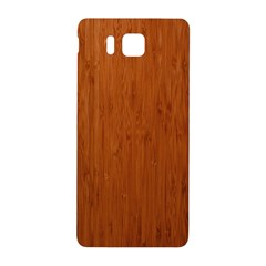 Bamboo Dark Samsung Galaxy Alpha Hardshell Back Case by trendistuff