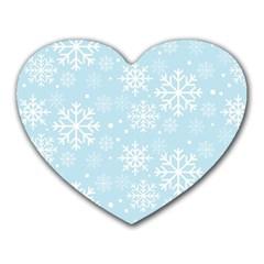 Frosty Heart Mousepads by Kathrinlegg