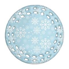 Frosty Round Filigree Ornament (2side)