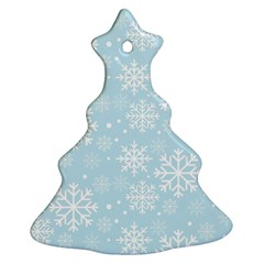 Frosty Christmas Tree Ornament (2 Sides) by Kathrinlegg
