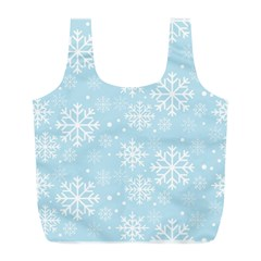 Frosty Full Print Recycle Bags (l)  by Kathrinlegg