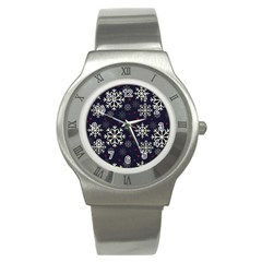 Snowflake Stainless Steel Watches by Kathrinlegg