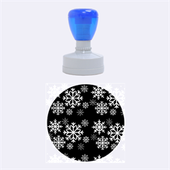 Snowflake Rubber Round Stamps (medium) by Kathrinlegg