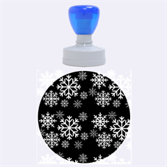 Snowflake Rubber Round Stamps (large) by Kathrinlegg