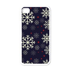 Snowflake Apple Iphone 4 Case (white) by Kathrinlegg
