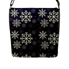 Snowflake Flap Messenger Bag (l)  by Kathrinlegg