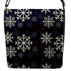 Snowflake Flap Messenger Bag (s) by Kathrinlegg