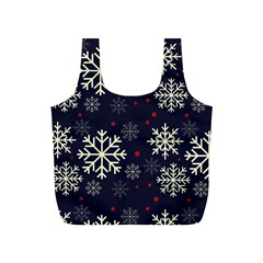 Snowflake Full Print Recycle Bags (s)  by Kathrinlegg
