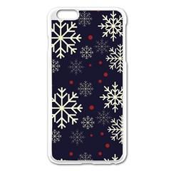 Snowflake Apple Iphone 6 Plus/6s Plus Enamel White Case by Kathrinlegg