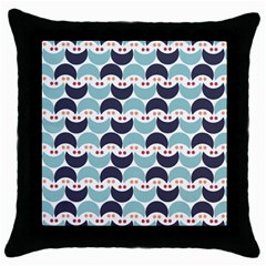 Moon Pattern Throw Pillow Cases (black) by Kathrinlegg