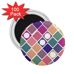 Dots And Squares 2 25  Magnets (100 Pack)