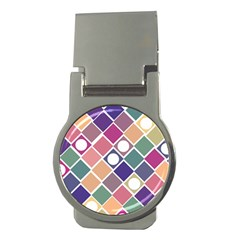 Dots And Squares Money Clips (round)